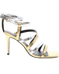 Versace Jeans Couture Sandali Color Oro E Argento - Metallizzato