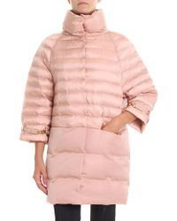 Elisabetta Franchi - Pink Overfit Down Jacket - Lyst