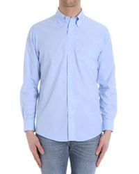 Brooks Brothers - Light Blue Cotton Shirt - Lyst