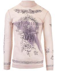 Givenchy Long Sleeve Printed T-shirt - Natural