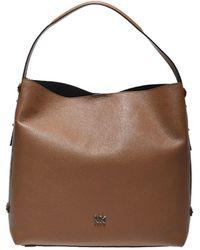 0b83c03d6b45 Michael Kors Griffin Large Logo Jacquard Shoulder Bag - Lyst