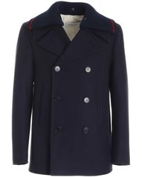 Golden Goose Deluxe Brand Double-breasted Blue Coat