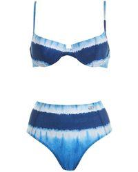 Alberta Ferretti Tie-dye Bikini - Blue