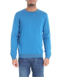 Jurta - Turquoise And Grey Reversible Pullover - Lyst