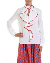 Stella Jean - White Crepe De Chine Shirt - Lyst