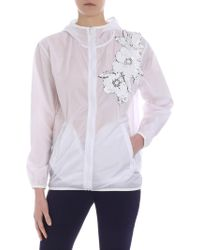 31ef88401 P.A.R.O.S.H. - White Jacket With Floral Sequins - Lyst