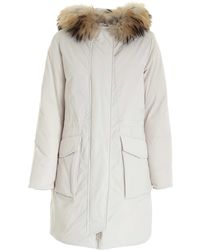 Woolrich Military Parka Down Jacket - White