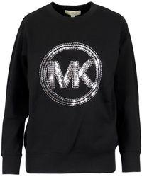 Michael Kors Monogram Crewneck Sweatshirt - Black