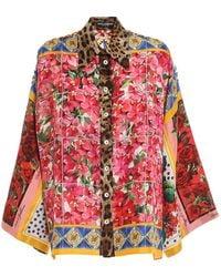 Dolce & Gabbana Patchwork Multicolour Shirt - Red