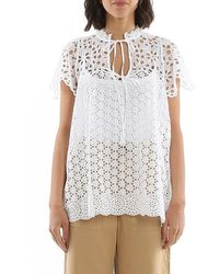 Polo Ralph Lauren Broderie Anglaise Blouse - White