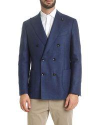 Lardini Double-breasted Jacket - Blue