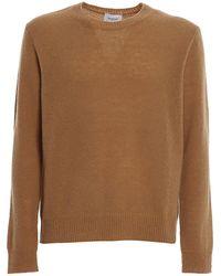 Dondup Crewneck Wool Blend Sweater - Brown