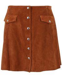 Department 5 Jeckry Suede Skirt - Orange