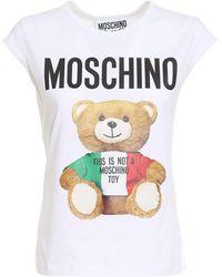 Moschino Italian Teddy Bear Top - White