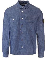 Stone Island Denim Shirt - Blue