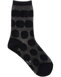 Y's Yohji Yamamoto Polka Dot Stretch Socks - Black