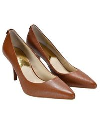Michael Kors - High-heeled Mid Pump Luggage Shoes - Lyst