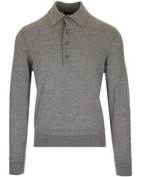 Tom Ford - Knitted Polo Shirt - Lyst