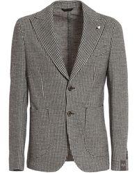 Luigi Bianchi Mantova Wool Blend Single Breasted Blazer - Brown