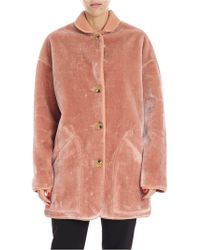 PS by Paul Smith - Pink Eco-fur Coat Coat - Lyst
