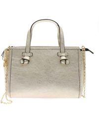 Gianni Chiarini Laminated Leather Handbag - Metallic