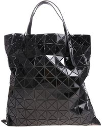 Bao Bao Issey Miyake - Soft Black Tote With Squares And Triangles - Lyst