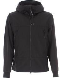 C.P. Company Cp Shell-r Medium Goggle Jacket In Black