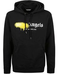 Palm Angels Sprayed Logo Sweatshirt - Black