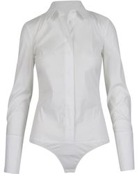 Patrizia Pepe Body A Camicia - Bianco