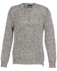 Roberto Collina Crew Neck Cotton Sweater - Grey