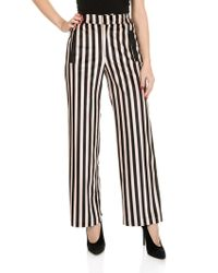 Shirtaporter - Striped Palazzo Trousers - Lyst