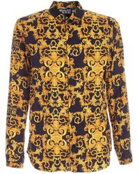 Versace Jeans Couture Baroque Print Shirt - Black