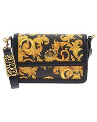 Versace Jeans Couture Logo Baroque Print Bag - Black