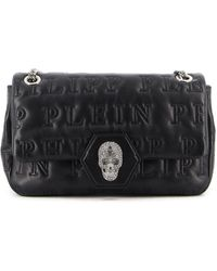 Philipp Plein Skull Crystal Bag - Black