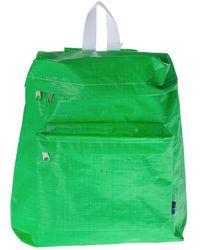Comme des Garçons Synthetic Raffia Backpack - Green
