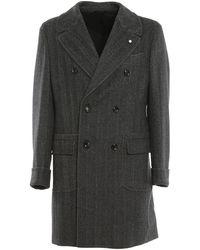 Luigi Bianchi Mantova Double Breasted Raincoat - Grey