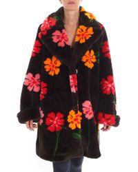 Vivetta - Krafft Brown Floral Printed Coat - Lyst