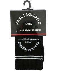Karl Lagerfeld Rue St Guillame Socks Set - Black