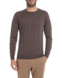 Paolo Pecora - Mud Color Round-neck Pullover - Lyst