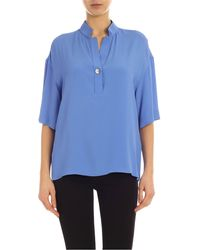 Fay Loose Fit Blouse - Blue