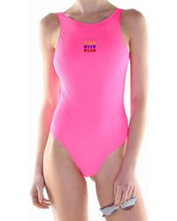 MSGM - Fuchsia Swimsuit - Lyst