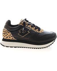 Lotto Leggenda Wedge Leopard W Sneakers - Black