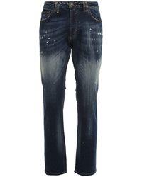 Philipp Plein Straight Leg Jeans - Blue
