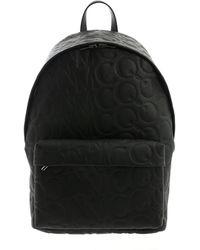 McQ Mcq Logo Saffiano Backpack - Black