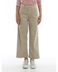 Dondup Avenue Denim Flared Jeans - Natural