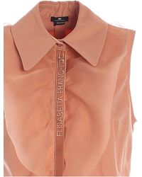 Elisabetta Franchi Short Sleeveless Shirt - Pink