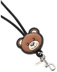 Moschino Teddy Bear Neck Keyring - Black