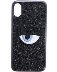Chiara Ferragni Cover Eye Nero Glitter Per I-Phone X