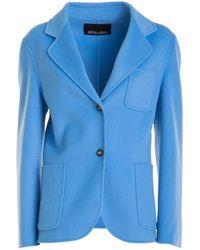 Ermanno Scervino Wool Blazer - Blue
