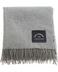 Karl Lagerfeld K/lounge Cashmere Blend Plaid - Grey